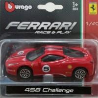 harga Diecast Ferrari 458 Challenge Burago Tokopedia.com