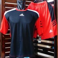 Kaos Setelan Adidas F50 Hitam Merah (Jersey,Baju,Nike,Bola,Futsal)