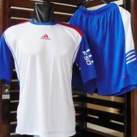 Kaos Setelan Adidas F50 Putih Biru (Jersey,Baju,Nike,Bola,Futsal)