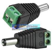 Jack DC Baut Jantan 2.1x5.5mm Male Power Plug to Screw Soket CCTV Cok