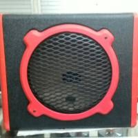 "box subwoofer 10"" vinyl merah"