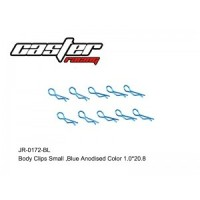 RC / JR-0172-BL BODY CLIPS SMALL,BULE ANODISED COLOR