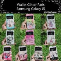 Flipcase Samsung J5 J500 Flipcover Gambar Paris Vintage Gliter Casing