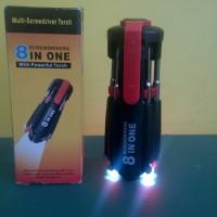 Obeng Multifungsi Obeng Serba Guna Obeng 8in1 LED