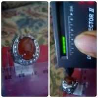 harga cincin batu akik madu yaman ring titanium Tokopedia.com