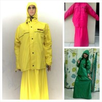 Jual Jas Hujan SUNFLOWER ROK / Ladies / Women Raincoat / Muslimah Murah