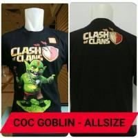 Kaos COC Clash of Clans Murah Allsize Katun - Goblin