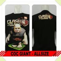 Kaos COC Clash of Clans Murah Allsize Katun - Giant