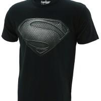Kaos Baju Superhero TopGear Superman Man Of Steel Logo Version Black