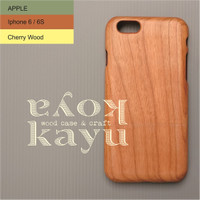 Jual IPHONE 6 WOOD CASE KAYUKOYA CLASSIC CHERRY (BS CUSTOM FOTO / LOGO) Murah