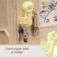 Jual Gantungan Mini 6 Holder Hook Oragnizer kunci kain lap keychain Murah