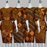 D1728 Setelan Rok dan Blouse Batik Pendek Wanita