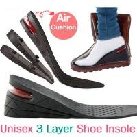 3 layer Insole Sol PU Sepatu Penambah Tambah Tinggi Peninggi Badan