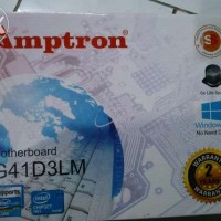 Motherboard/Mainboard AMPTRON G41 LGA775 DDR3 NEW GARANSI RESMI 2 TH