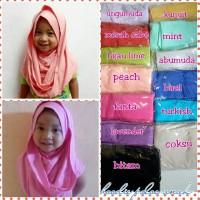 Jual jilbab anak/jilbab instan anak/hoodie polos anak Murah