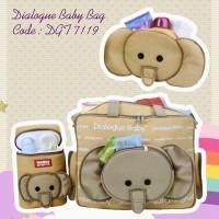 Dialogue Large Baby Bag - Tas Bayi Besar 3in1 - DGT 7119
