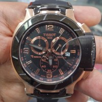 TISSOT 1853 T-RACE Chronograph ROSEGOLD BLACK Rubber for MEN