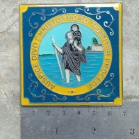 harga Vintage San Cristbal St Christopher Car Badge Vespa Lambretta Plakett Tokopedia.com