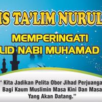 Banner Maulid Nabi Muhamad SAW Ukuran custom