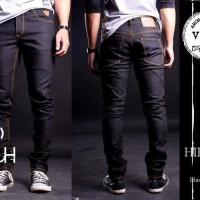 Jual Arch Denim , Celana Panjang Black Dry Denim Slimfit Murah