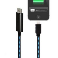 Cable Data Lightning Iphone / Ipad / Ipod Glowing Current Flash