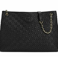JUAL TAS Tory Burch Marion Quilted Chain-Shoulder Slouchy Tote