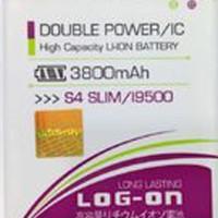 Baterai Double Power Log on SAMSUNG S4 SLIM Batre Batere Battery