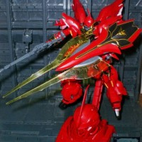 Gundam HGUC Sinanju Bonus Bazooka + Head Base