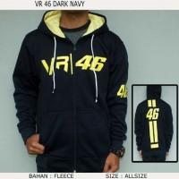 harga Sweater Zipper Valle VR 46 Hitam Tokopedia.com