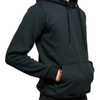 Jaket Hoodie Jumper Sweater Polos Hitam Kualitas Distro