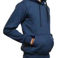 Jaket Hoodie Jumper Sweater Polos Navy Kualitas Distro