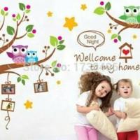 wall sticker 60x90/wall stiker transparan- XY1159 wellcome to my home