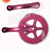 Crank set Sugino messenger 1/8x48Tx165mm Neon pink