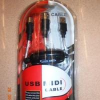Cable colokan USB ke MIDI PC to Music Keyboard Kabel PC2MIDI Musik 16