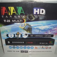 Receiver Parabola Tanaka T-21 Multi HD Ethernet (Support USB Modem)
