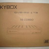Receiver Parabola DVB-S2 dan Set Top Box DVB-T2 Skybox V8 Combo