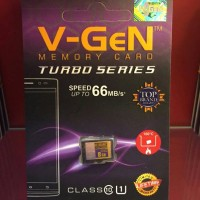 V-gen 8 giga micro sd HC turbo series class 10 memory card kartu
