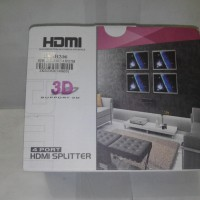 HDMI Splitter In 1 Port HDMI Out 4 Port HDMI Power Adapter Support 3D