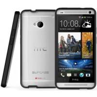 HTC One M7 Supcase Hybrid Transparent Hard Soft Back Cover Casing Case