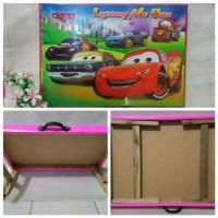 Meja Lipat Cars / Meja Belajar Anak / Meja Lipat Kayu