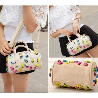 tas tangan selempang bahu shoulder bag paris hilton elle putih cream