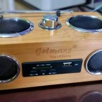 Bamboo Mini HiFi Speaker Multifungsi MURAH