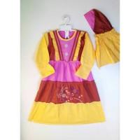 Baju Muslim Anak Perempuan 4 - 7 tahun Motif Garda V