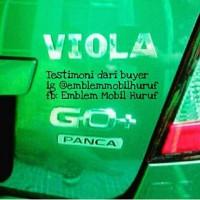 harga Emblem Mobil Nama huruf/ angka keren dipasang untuk Datsun Go/ Go+ Tokopedia.com