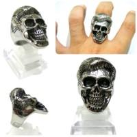 skullring hande made titanium grosir cincin tengkorak David