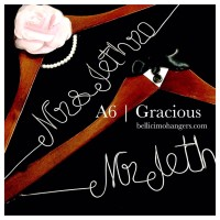 A6 Gracious  - Hanger Name Wedding Favor Personalized