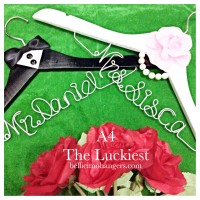 A4 The Luckiest  - Hanger Name Wedding Favor Personalized