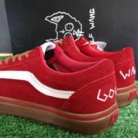 sepatu vans golf wang red icc
