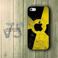 Radioactive Apple iPhone Case Logo ,Casing Type 4 4s 5 5s 5c Casing HP