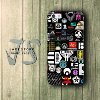 Skateboard Sticker iPhone Case DC Vans ,Casing Type 4 4s 5 5s 5c hp